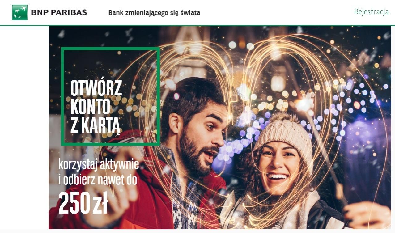 BNP Paribas konto 250 zl na nowy rok