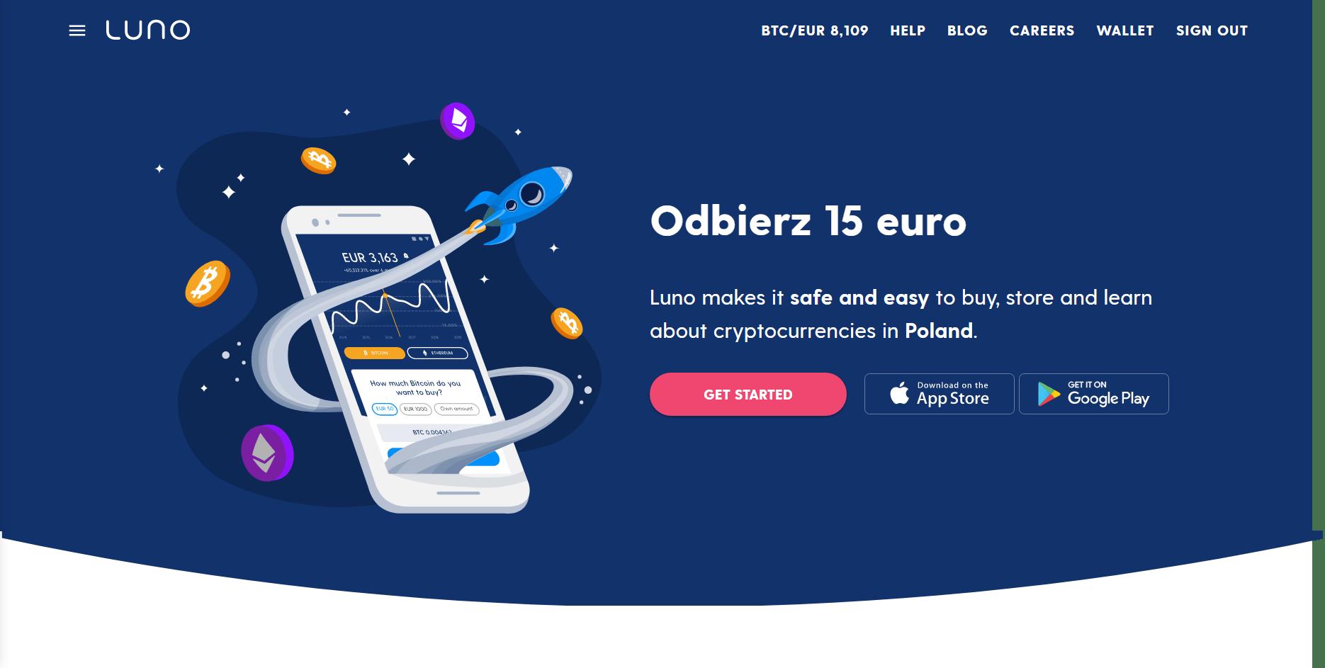 Luno odbierz 15 euro zdjęcie główne